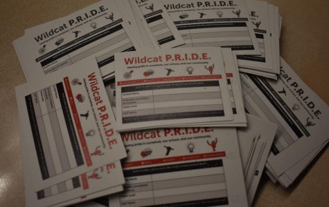Pile of pride cards at south