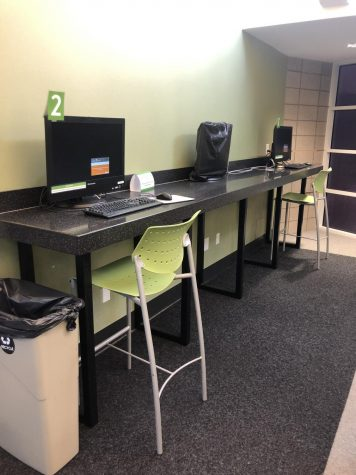 Study area at the library