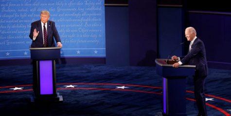 Donald Trump and Joe Biden at the Sept. 29 2020 presidential debate