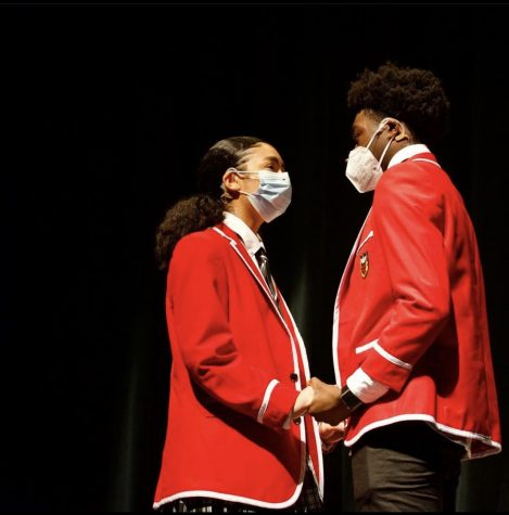 Juniors Isa Sánchez and Michael Donkor rehearsing a scene for South