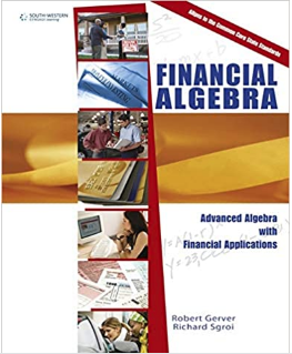 Keepin' the books - An example of the financial algebra course textbook. A textbook is necessary since the course is heavily math oriented. Photo   credit: Amazon.com